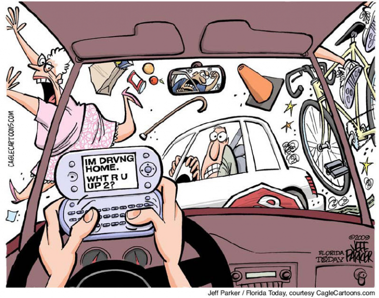 Texting and Driving: The Temptations and the Dangers