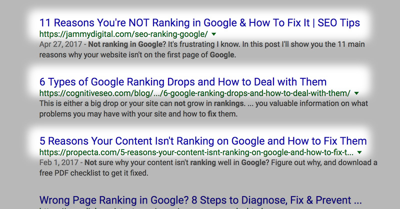 search engine title tips